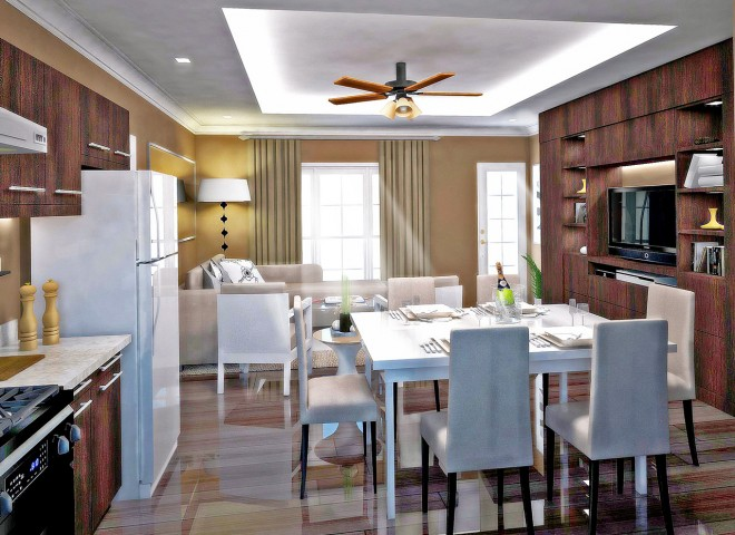 Living and Dining Area | Phase II Townhouse in San Juan