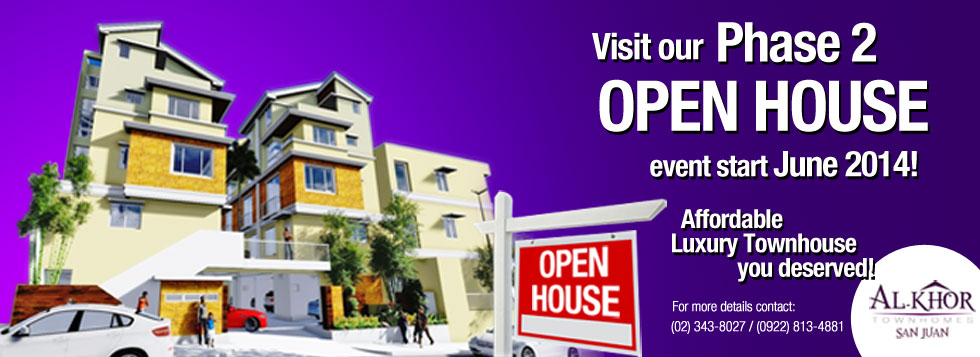 Open House Phase 2 Townhouse for sale San Juan City