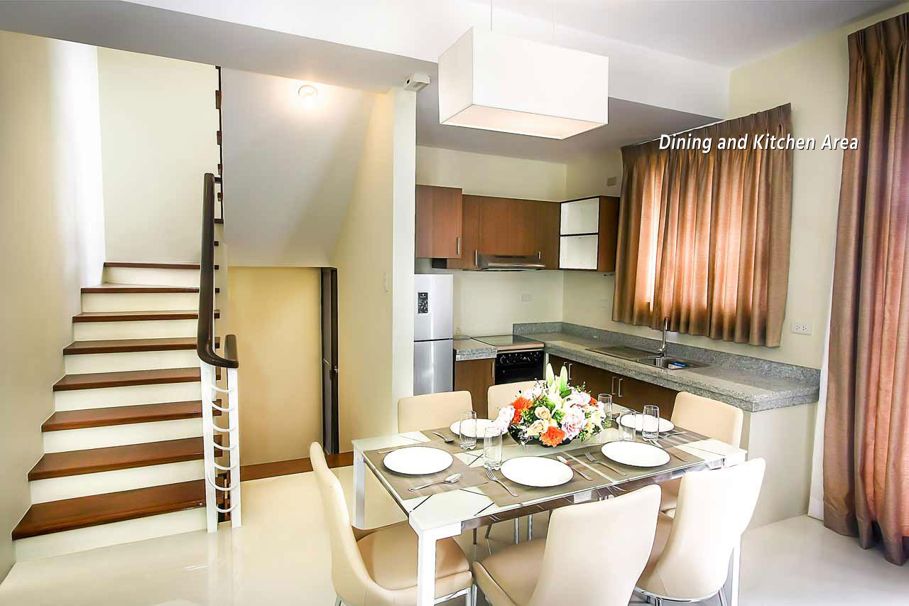 al-khor phase 2 stairs dining area kitchen | al-khor townhomes san