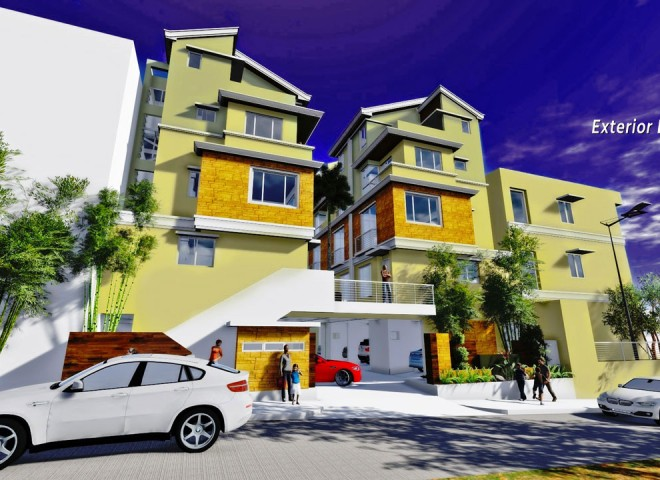 Al-Khor Townhomes Exterior Perspective left side view