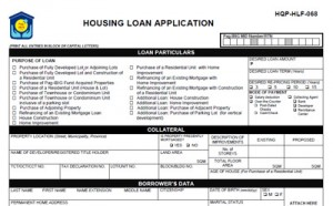 Pag-Ibig housing Loan Application Form