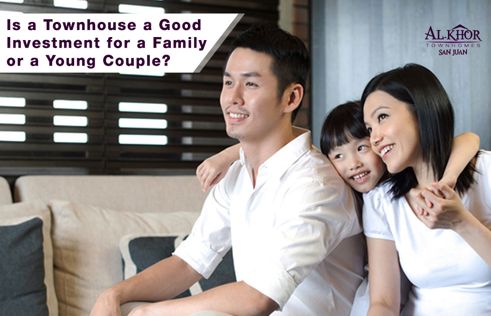 Townhouse investment for family or a young couple