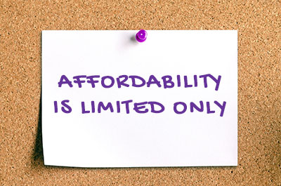 affordability is limited only for townhouses
