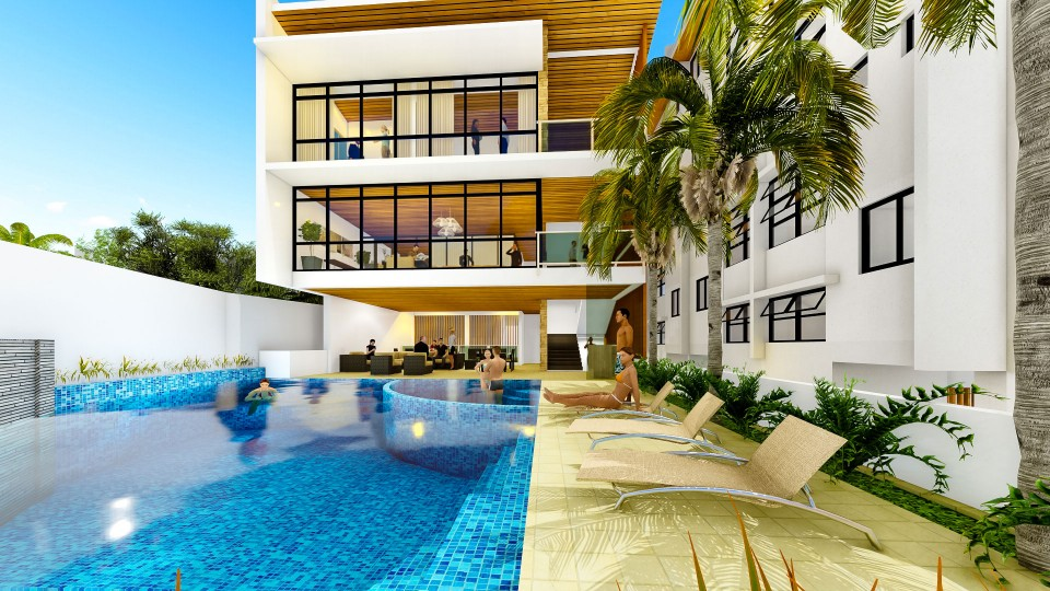 Clubhouse with Swimming Pool - Phase 2 Artist Perspective