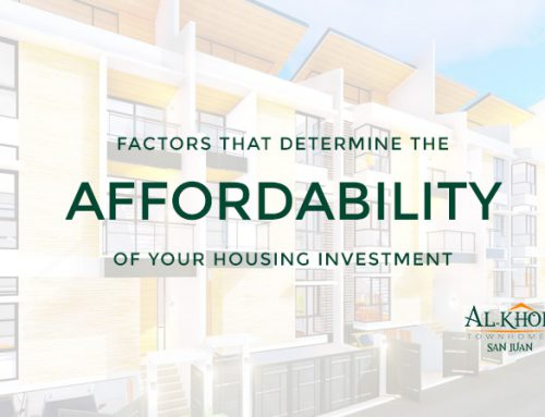 Factors that determine the affordability of your housing investment